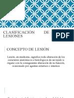 CLASIFICACIÓN DE LESIONES