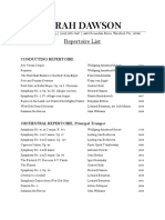 repertoire list sarah dawson 2020