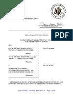In Re David Michael MARTINEZ Memorandum Opinion 11 Feb 2011