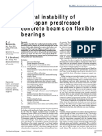 Lateral Instability of Long-span Prestressed Concrete Beams on Flexible Bearings