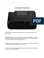 Canon SELPHY CP1300 Driver Printer