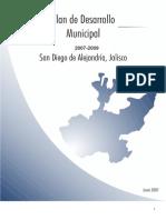 Plan de Desarrollo Municipal 2007-2009 San Diego de Alejandria