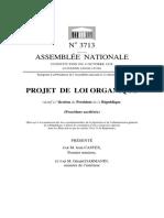 Projet-loi Présidence de La République