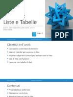 Unita' P6 - Liste e Tabelle