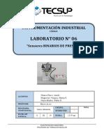 Lab 6. Sensores Binarios de Presión