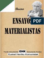 Ensayos Materialistas Gustavo Bueno