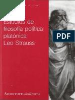 (pág 189; GORGIAS, LEY NATURAL) Strauss, Leo - Estudios de filosofia politica platonica.pdf