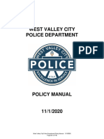 WVC Police Department Policy Manual