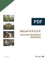 Manuel H.A.C.C.P. pour les viticulteurs charentais