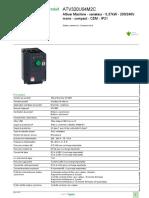 5- Fiche technique  variateur de fréquence ATV320
