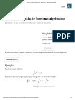 Integral indefinida de funciones algebraicas - Aprende Matemáticas
