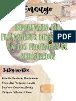 IMPORTANCIA DEL TRATAMIENTO DIFERENCIADO EN LOS PROGRAMAS DE REINSERCION