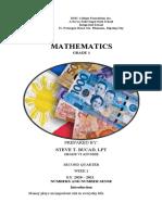 Mavery Shye Sumbalan - Math 1 Module 2Q W2