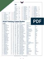 TrainingCampRoster