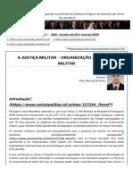 A Justiça Militar – organização judiciária militar