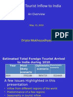 Foreign Tourists Arrivals 240510 Ppt Lower Version