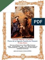 Fiesta de la Sagrada Familia. Guía de los fieles para la santa misa cantada.  Kyrial  De Angelis