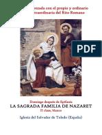 Fiesta de la Sagrada Familia de Nazaret. Propio y Ordinario de la santa misa
