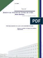 BTCU_29_de_12_11_2020_Especial - Aprova a revisão do Manual de Auditoria Operacional