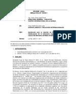 INFORME LEGAL APROBACION DE POA 2019