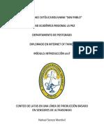 CONTEO DE LATAS EN UNA LÍNEA DE PRODUCCIÓN BASADO EN SENSORES DE ULTRASONIDO