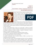 Clase 20 Contexto histórico, artístico y cultural para enmarcar la obra de Federico García Lorca