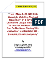 Special Internet Business Report Football