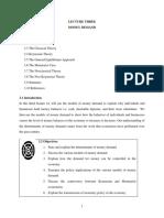 DFI 301 Lecture Three - Money Demand