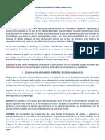 CONCEPTOS GENERALES DE HIDROLOGIA