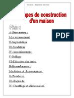 les étapes de construction d'un maison