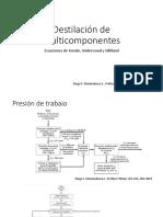 Destilación de Multicomponentes