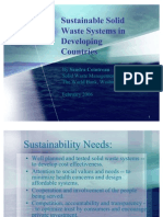 Sustainable Solid Waste Systems in Developing Countries