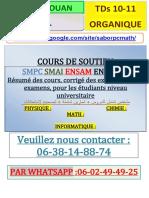°TDs ORGANIQUE ENSA-TETOUAN 10-11 CP1 SABOR.pdf