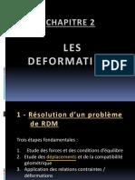 Chapitre 2 - Les Déformations - Version Allégée