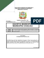 Tarifas de Aseo Urbano 27.12.2019 Municipio Chacao