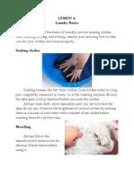 Lesson 2 laundry basics