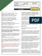 monitoria - lista 11 - gabarito