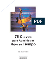 75 CLAVES PARA ADMINISTRAR MEJOR SU TIEMPO