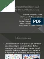 ADMINISTRACION EN LAS CULTURAS MESOAMERICANAS