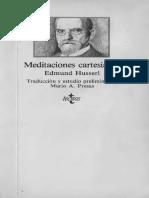 Husserl, Edmund. «Meditaciones Cartesianas» [Tecnos]