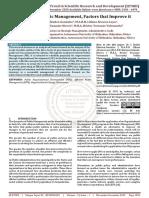 Successful Public Management, Factors that Improve it