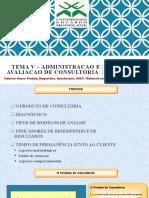 TEMA V- ADMINISTRACAO AVALIACAO  SERVICOS  CONSULTORIA