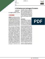 Università e CAI insieme per proteggere la natura - Il Corriere Adriatico del 31 dicembre 2020