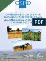 L'ingénierie écologique pour une agriculture durable dans les zones arides et semi-arides d'Afrique de l'ouest