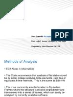 Eurocode 2 Annex - Analysis of Flat slabs presentation by John Morrison