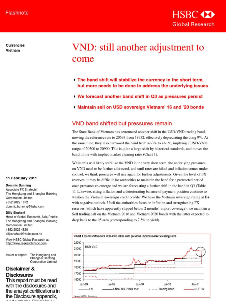 VND still another adjustment to come | Hsbc | Inflation