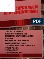 8 STEPS IN MAKING BETTER CAREER DECISIONS