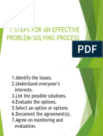 7 STEPS FOR AN EFFECTIVE PROBLEM-SOLVING PROCESS