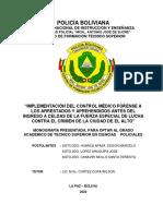 FINAL MONOGRAFIA - CONTROL MÉDICO FORENSE DE ARRESTADOS Y APREHENDIDOS