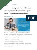 Finanzas para emprendedores_ Mejora tu rentabilidad